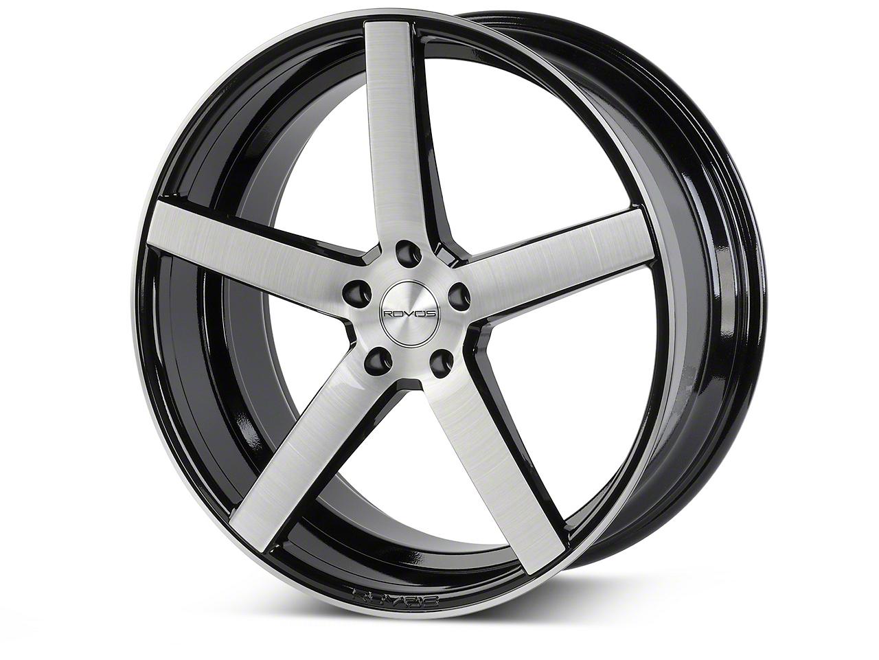 Rovos Durban Gloss Black Brushed Wheel - 20x10 (15-18 GT, EcoBoost, V6)