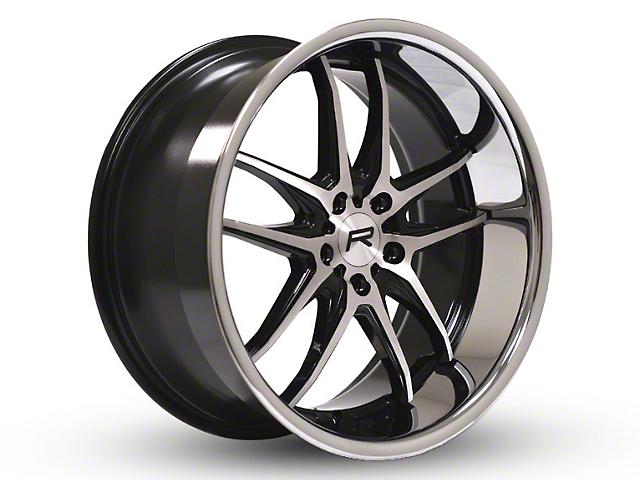 Rovos Calvinia Gloss Black Brushed Chrome Wheel; 20x8.5 (05-09 All)