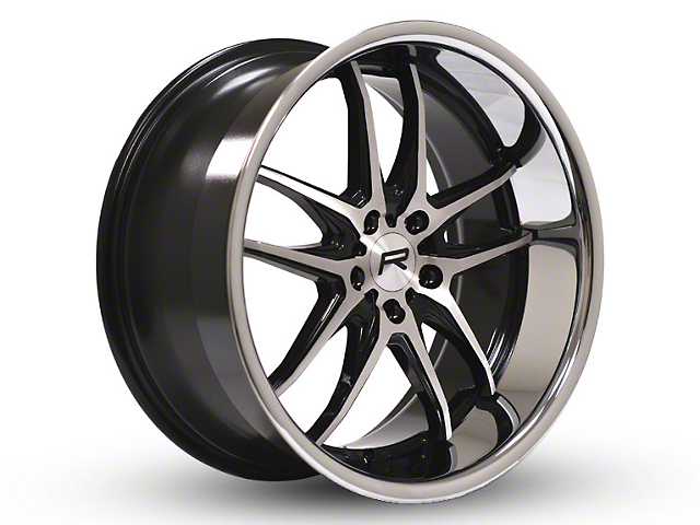 Rovos Calvinia Gloss Black Brushed Chrome Wheel; 20x8.5 (15-20 GT, EcoBoost, V6)