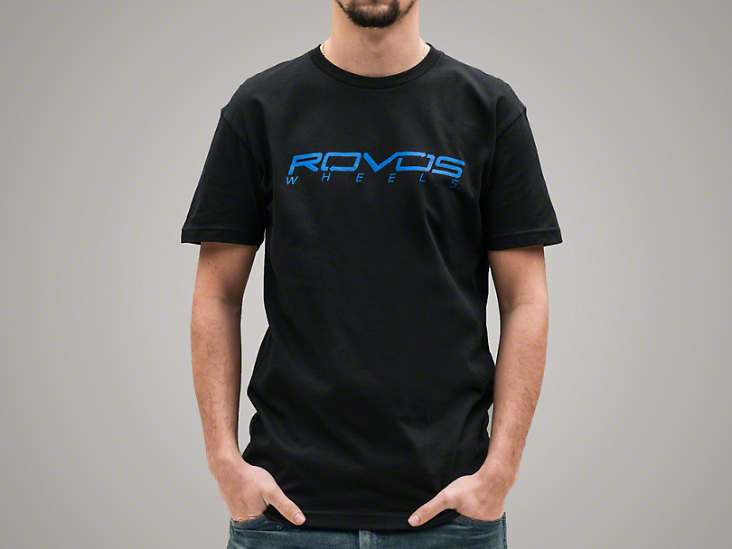 Rovos Black w/ Blue Logo T-Shirt