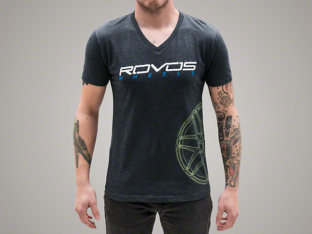 Rovos Gray w/ Green Logo T-Shirt