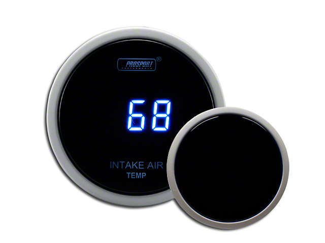 Prosport 52mm Digital Intake Temperature Gauge; Electrical; Blue (Universal Fitment)