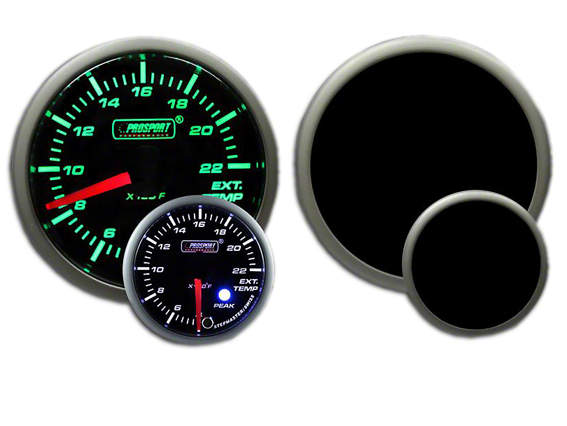 Prosport Dual Color EGT Premium Boost Gauge - Green/White (79-18 All)