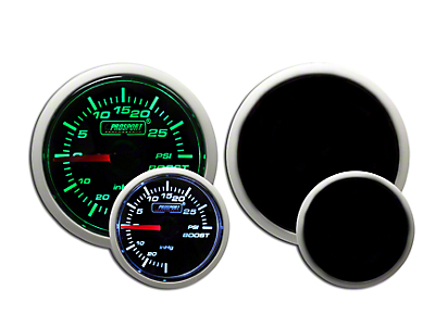 Prosport Dual Color 30 PSI Boost Gauge - Electrical - Green/White (79-18 All)