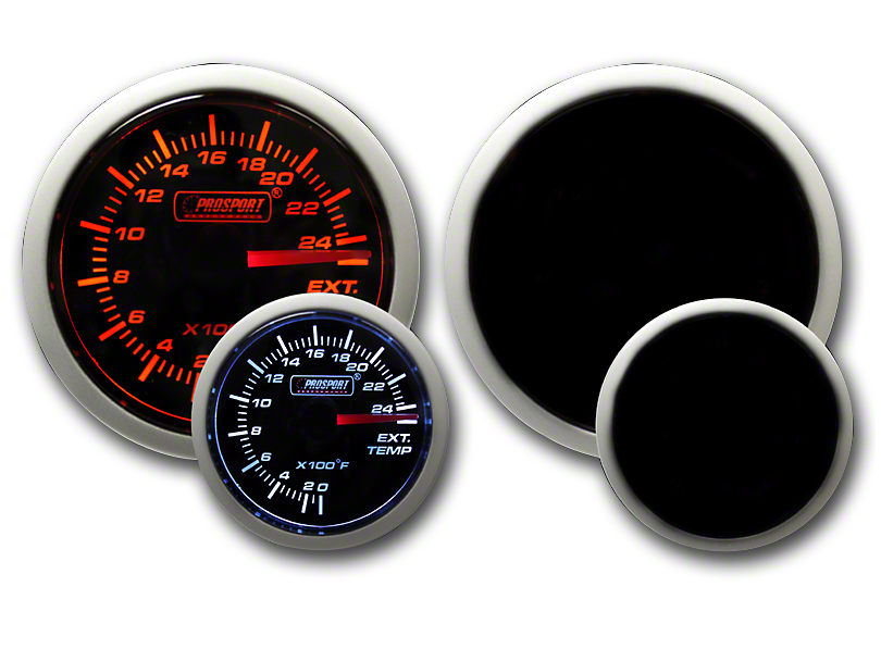 Prosport Dual Color Exhaust Gas Temperature Gauge - Amber/White (79-19 All)