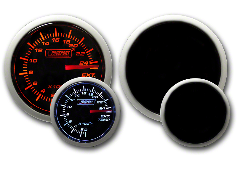 Prosport Dual Color Exhaust Gas Temperature Gauge - Electrical - Amber/White (79-19 All)