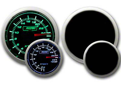 Prosport Dual Color Exhaust Gas Temperature Gauge - Green/White (79-18 All)