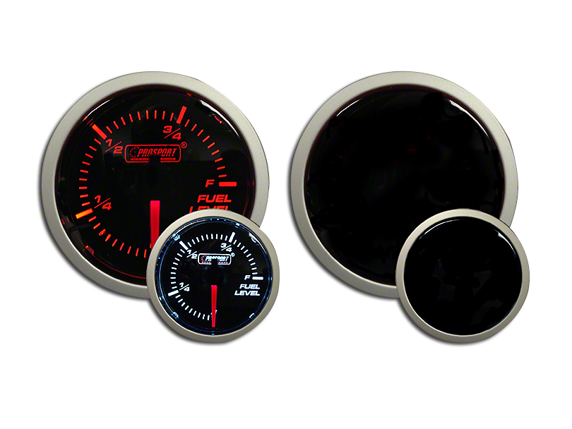 Prosport Dual Color Fuel Level Gauge - Electrical - Amber/White (79-18 All)