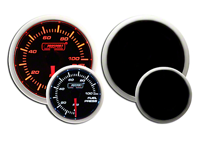 Prosport Dual Color Fuel Pressure Gauge - Electrical - Amber/White (79-19 All)