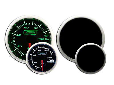 Prosport Dual Color Fuel Pressure Gauge - Electrical - Green/White (79-18 All)
