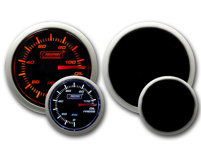 Prosport Dual Color Oil Pressure Gauge - Electrical - Amber/White (79-18 All)