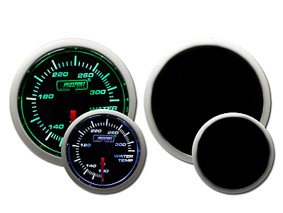 Prosport Dual Color Water Temperature Gauge - Electrical - Green/White (79-18 All)