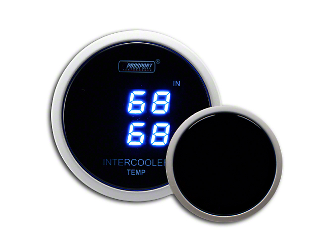 Prosport Digital Dual Intercooler Air Temperature Gauge; Blue (Universal Fitment)