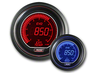 Prosport Dual Color Evo Exhaust Gas Temperature Gauge - Electrical - Red/Blue (79-18 All)