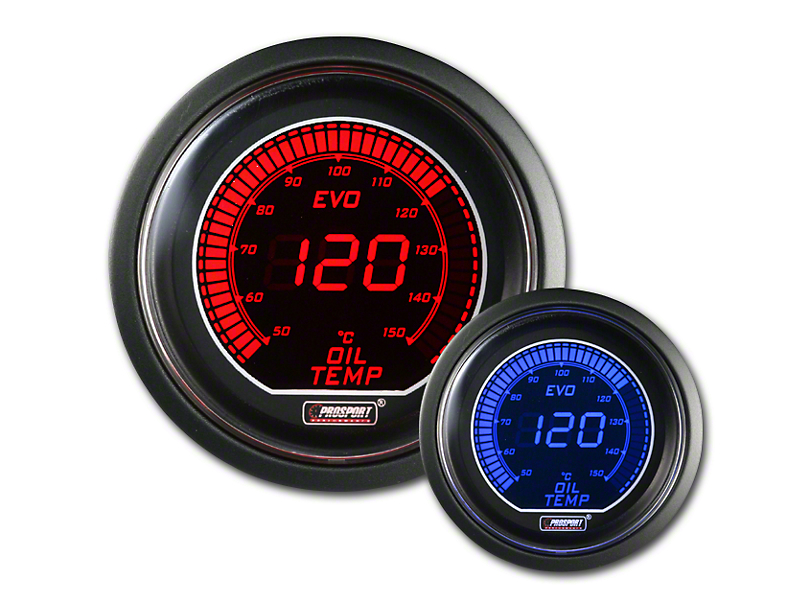 Prosport Dual Color Evo Celsius Oil Temperature Gauge - Electrical - Red/Blue (79-19 All)