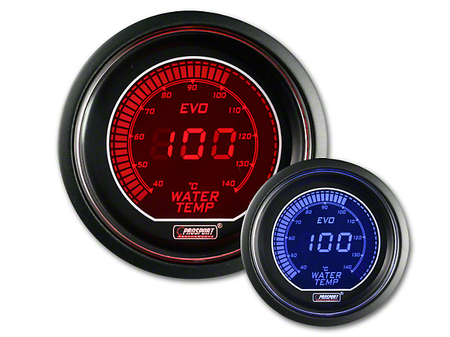 Prosport Dual Color Evo Celsius Water Temperature Gauge - Electrical - Red/Blue (79-19 All)