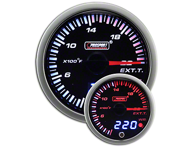 Prosport JDM Exhaust Gas Temperature Gauge - Electrical (79-18 All)