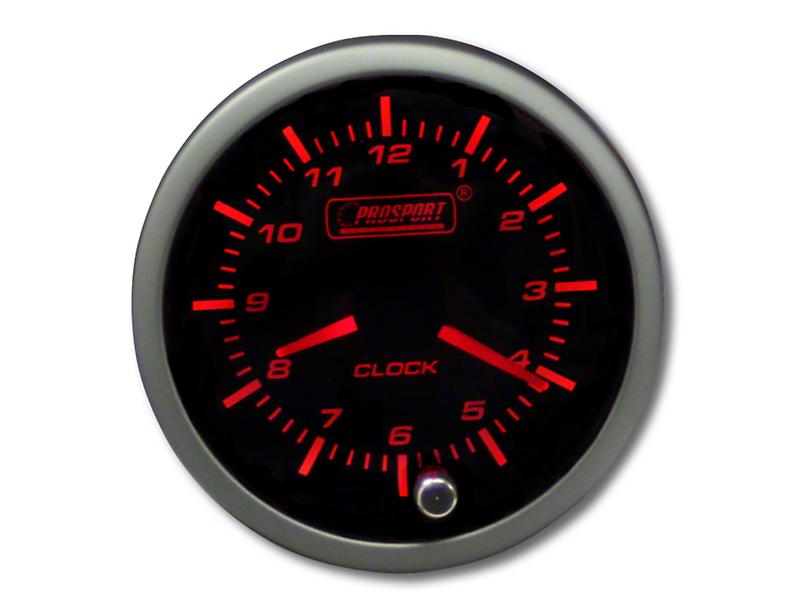 Prosport Premium Analog Clock - Amber/White (79-18 All)