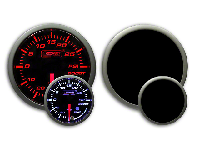 Prosport Dual Color Premium Boost Gauge - Electrical - Amber/White (79-18 All)