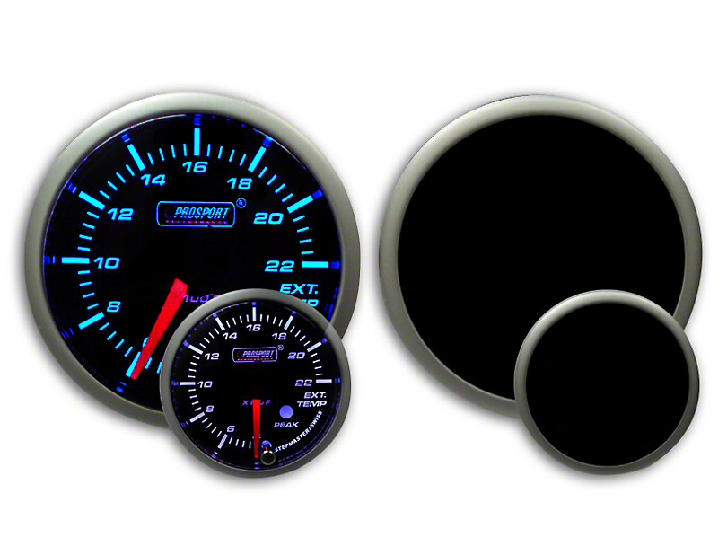 Prosport Dual Color Premium EGT Gauge - Blue/White (79-19 All)