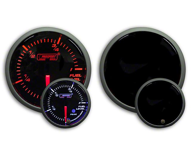 Prosport Dual Color Premium Fuel Level Gauge - Amber/White (79-18 All)