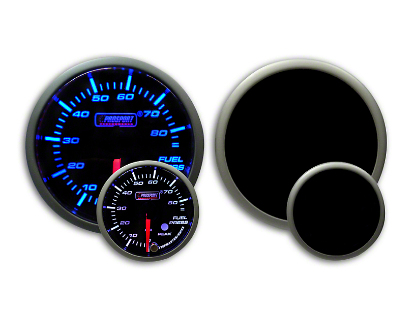 Prosport Dual Color Premium Fuel Pressure Gauge - Blue/White (79-19 All)