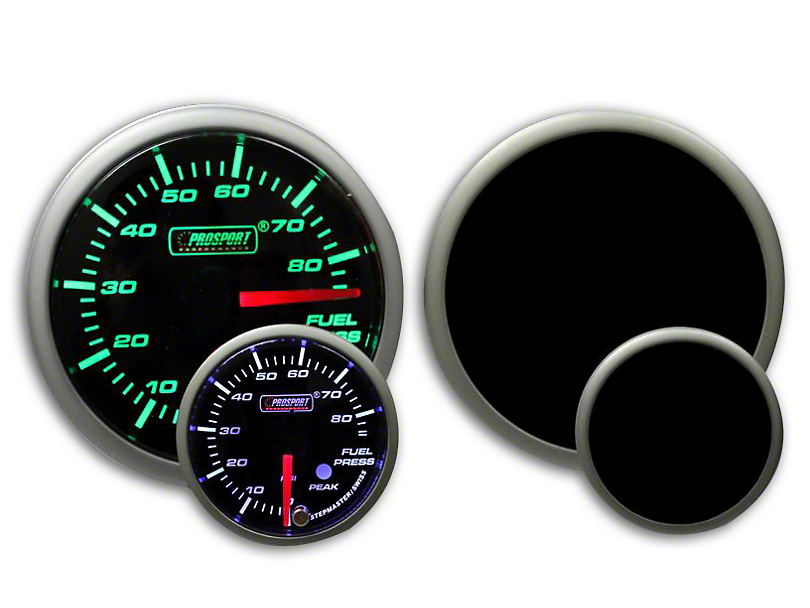 Prosport Dual Color Premium Fuel Pressure Gauge - Green/White (79-19 All)