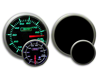 Prosport Dual Color Premium Fuel Pressure Gauge - Green/White (79-18 All)