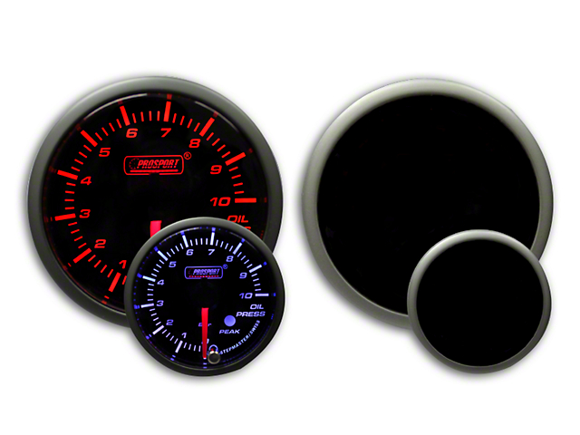 Prosport Dual Color Premium Metric Oil Pressure Gauge - Amber/White (79-18 All)