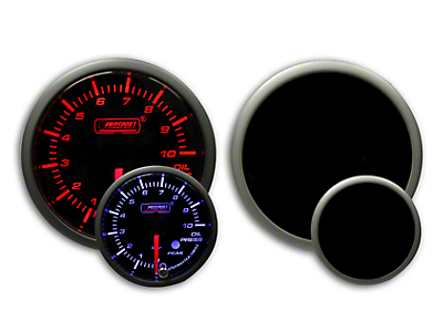 Prosport Dual Color Premium Metric Oil Pressure Gauge - Amber/White (79-19 All)