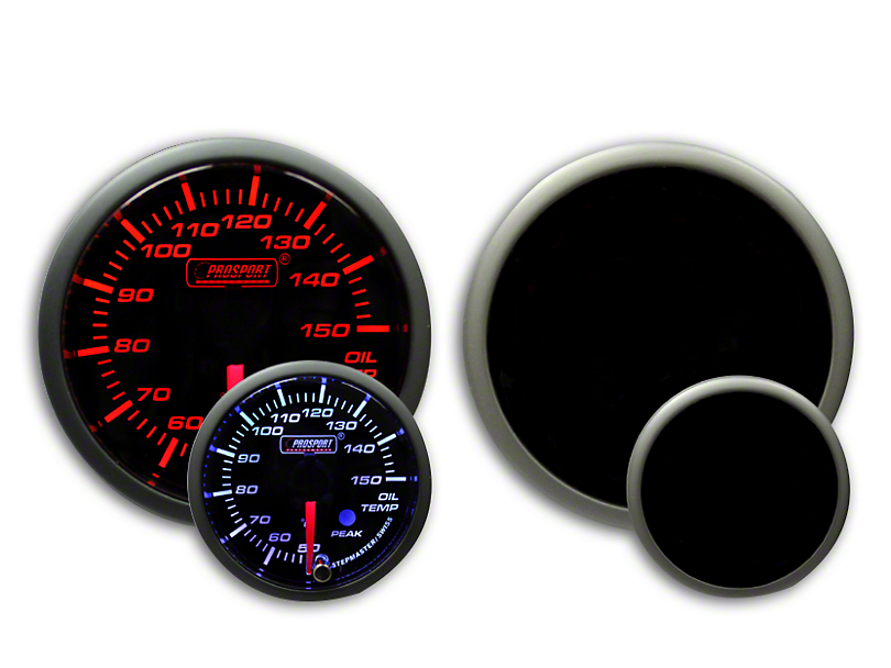 Prosport Dual Color Premium Metric Oil Temperature Gauge - Amber/White (79-19 All)