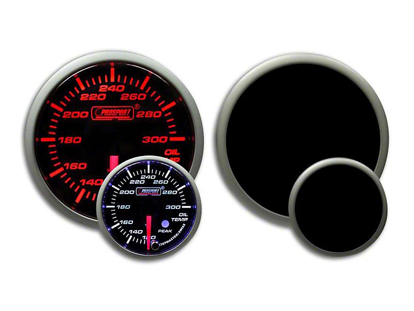 Prosport Dual Color Premium Oil Temperature Gauge - Amber/White (79-19 All)
