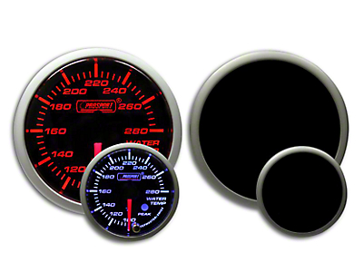Prosport Dual Color Premium Water Temperature Gauge - Amber/White (79-18 All)
