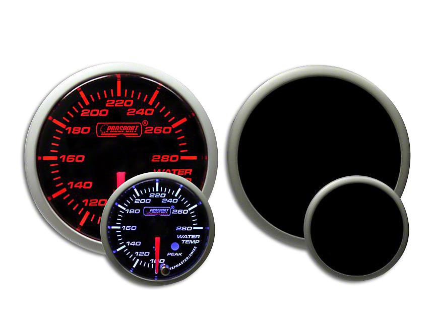 Prosport Dual Color Premium Water Temperature Gauge - Amber/White (79-18 All)