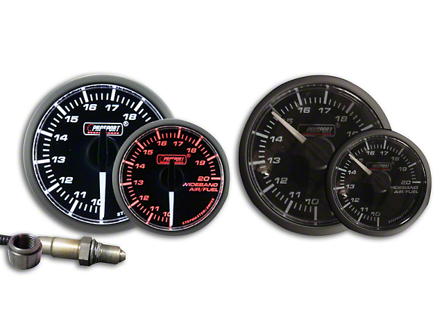 Prosport Dual Color Premium White Pointer Wideband Air Fuel Ratio Kit - Amber/White (79-18 All)