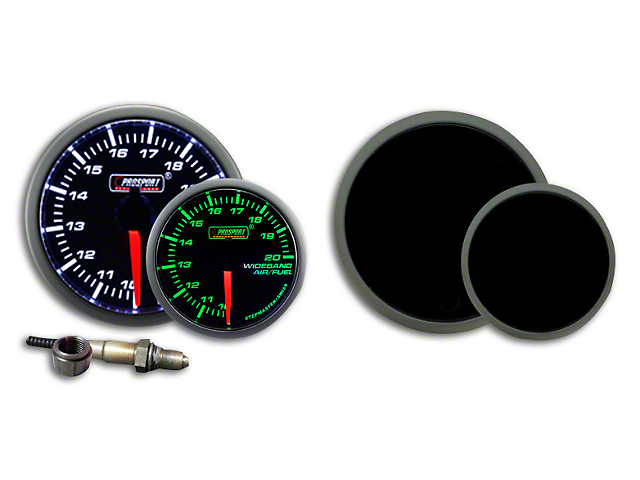 Prosport 52mm Premium Series Wideband Air/Fuel Ratio Gauge; Green/White (Universal Fitment)