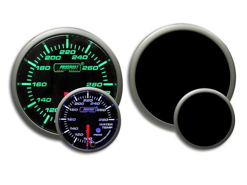 Prosport Premium Water Temperature Gauge - Green/White (79-19 All)