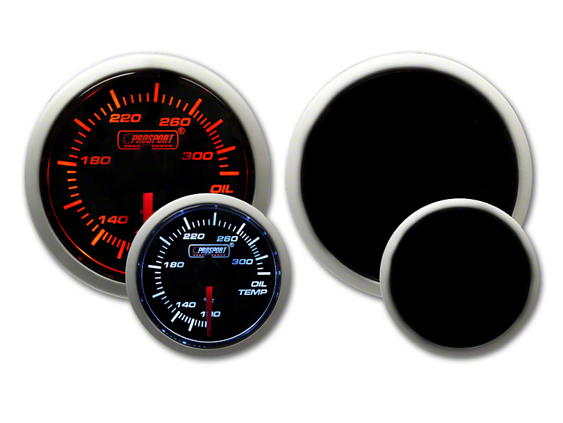 Prosport Tri-Color Halo Oil Temperature Gauge - Amber/White/Blue (79-19 All)