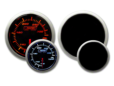 Prosport Tri-Color Halo Oil Temperature Gauge - Amber/White/Blue (79-18 All)