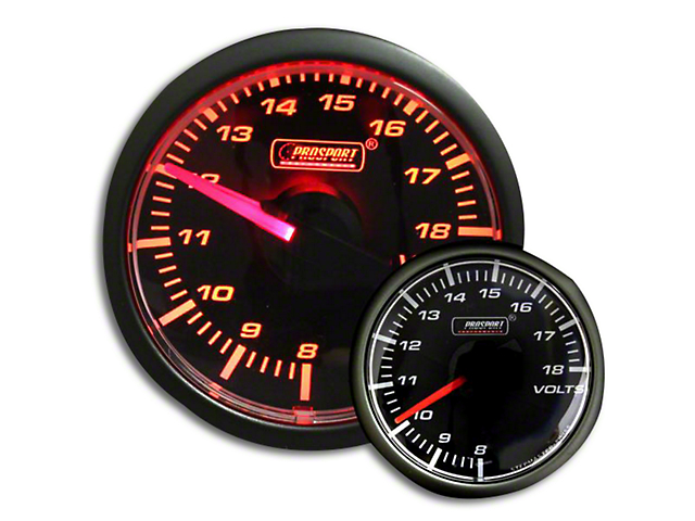 Prosport Voltmeter Gauge - Electrical - Amber (79-19 All)