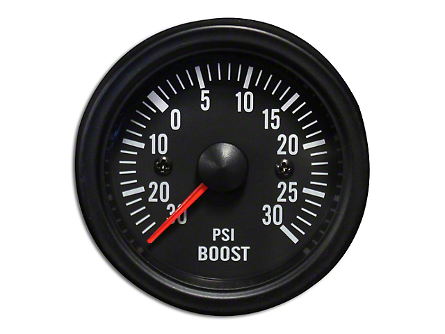 Prosport 52mm Waterproof Series Boost Gauge; Electrical; 30 PSI; Amber/White (Universal Fitment)