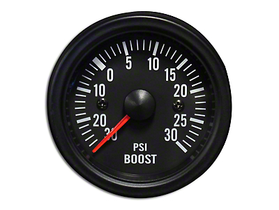 Prosport White LED Boost Gauge - Electrical (79-19 All)