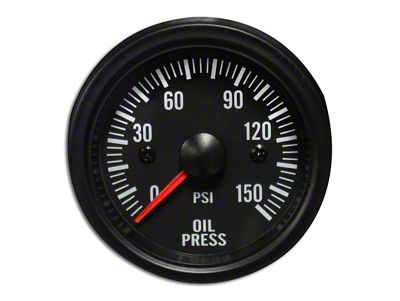 Prosport White LED Oil Pressure Gauge - Electrical (79-19 All)
