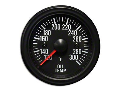 Prosport White LED Oil Temperature Gauge - Electrical (79-18 All)