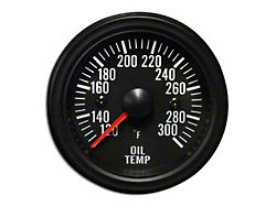 Prosport White LED Oil Temperature Gauge - Electrical (Universal Fitment)