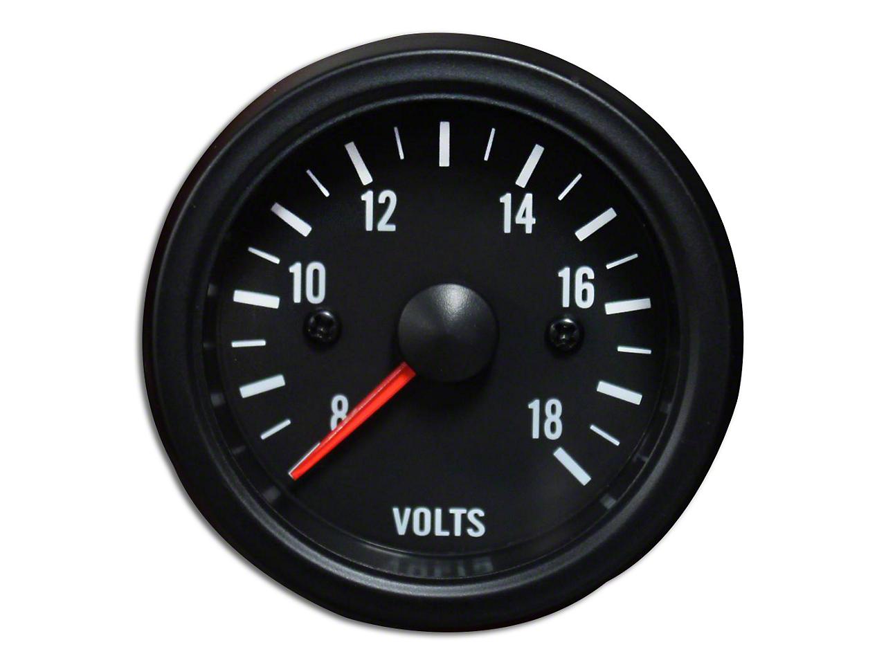 Prosport White LED Volt Gauge - Electrical (79-18 All)