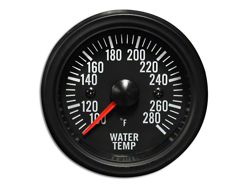 Prosport 52mm Waterproof Series Water Temperature Gauge; Electrical; Amber/White (Universal Fitment)