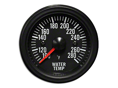 Prosport White LED Water Temperature Gauge - Electrical (79-19 All)