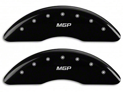 MGP Black Caliper Covers w/ MGP Logo - Front & Rear (15-18 EcoBoost w/ Performance Pack)