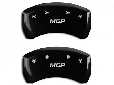 MGP Black Caliper Covers w/ MGP Logo - Rear Only (15-18 GT w/ Performance Pack)